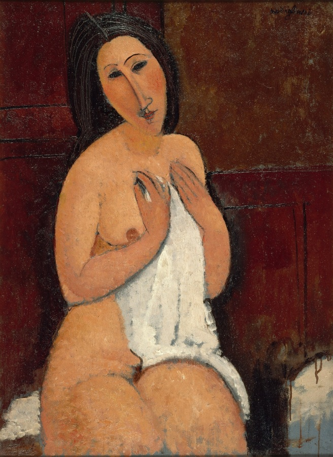 PIENI-amedeo-modigliani-seated-nude-with-a-shirt-1917-villeneuve-dascq-lam-photo-philip-bernard